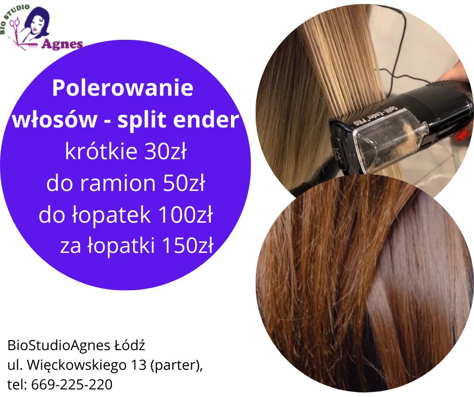 Polerowanie włosów, split ender